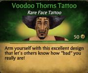 Voodoo Thorns Tattoo clearer