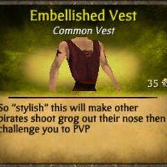 Red Embellished Vest