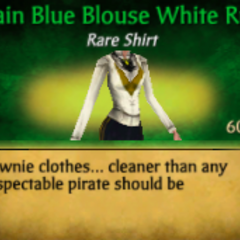 Plain Blue Blouse White Ruff