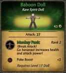 Baboon Doll Card