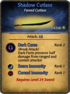 Shadow cutlass card remake