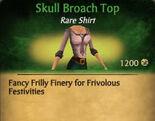 F Skull Broach Top