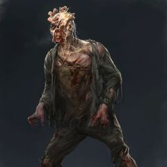 clicker, a infected person