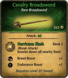 Cavalry Broadsword Card