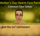 Mother's Day Hearts Face Paint