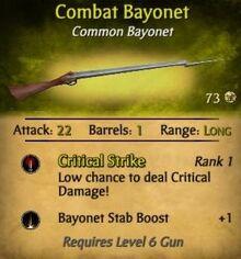 Combat Bayonet