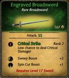 Engraved Broadsword 2010-11-25