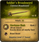 Soldier's Broadsword Card