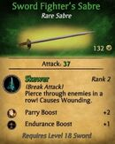 Sword Fighter's Sabre