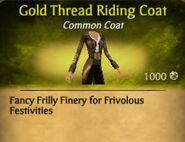 Gold Thread Riding Coat