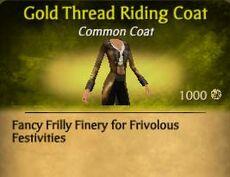 F Gold Thread Riding Coat