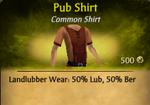 Pub Shirt - clearer