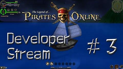 The Legend of Pirates Online Developer Stream -3- Some of our progress, including Sailing!
