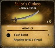 Sailor's Cutlass Card