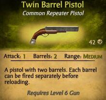 Twin Barrel Pistol