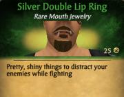 SilverDoubleLipRing