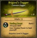 Brigand's Dagger Card