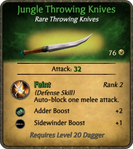 Jungle Throwing Knives Card