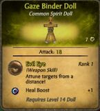 Gaze Binder Voodoo Doll
