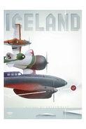 Planes vintage poster iceland
