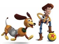 Slinky sometimes acts like Woody's pet
