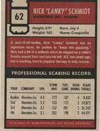Schmidt's scare card (rear)