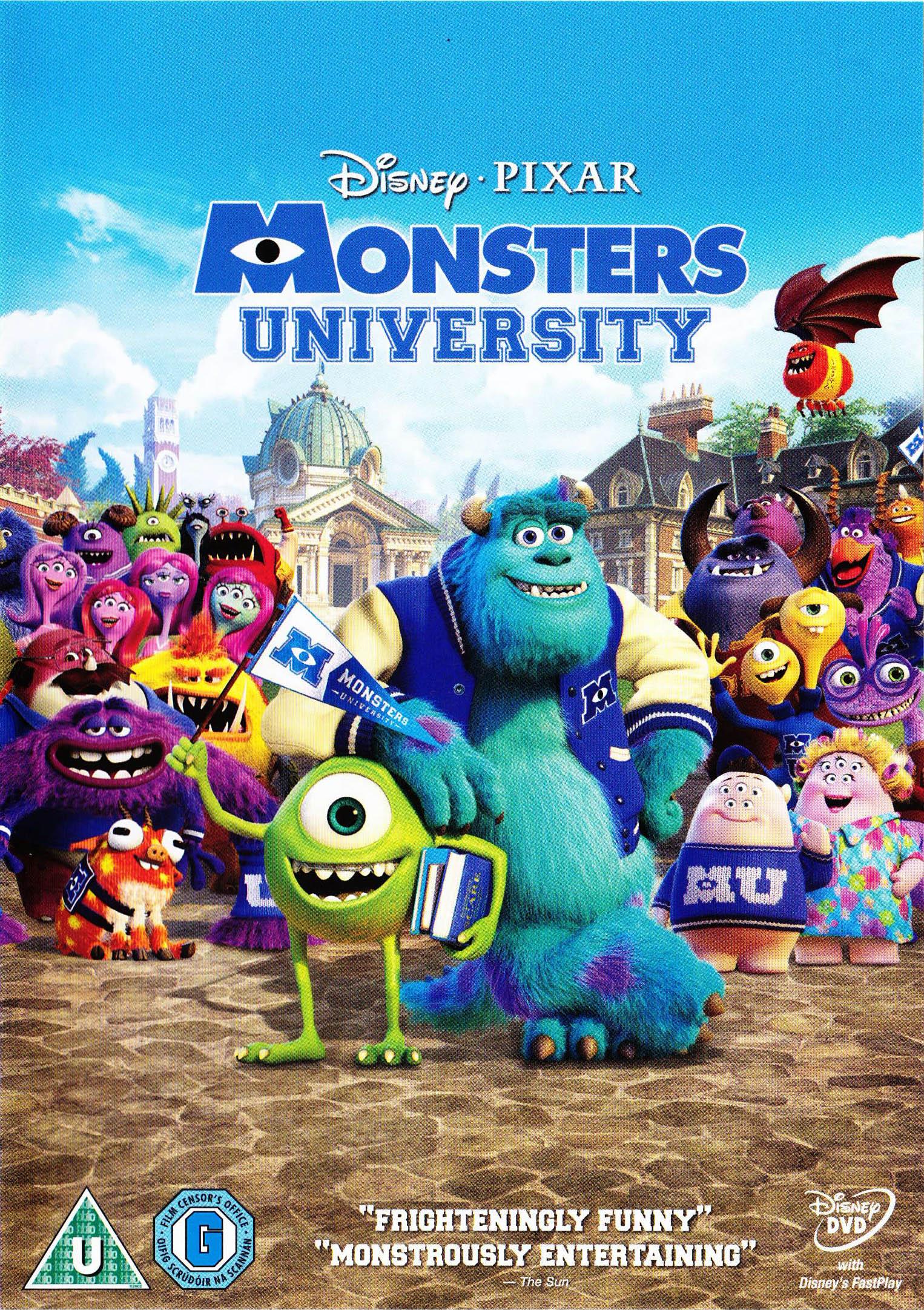 monsters university home video pixar wiki fandom