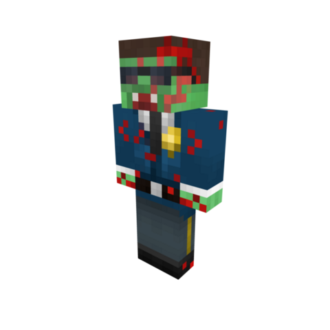 A full appearance of the Policeman Zombie.