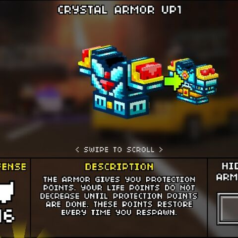 Medium Crystal Armor.