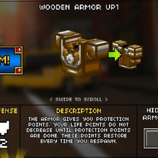 Medium Wooden Armor.