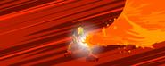 Tahu używa mocy Ognia