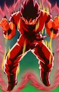 Gokū Kaiō-ken w walce z Kapitanem Ginyū i Jeicem