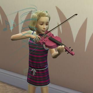 Dziecko grające na skrzypach.