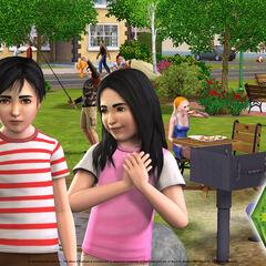 Mortimer i Bella w The Sims 3