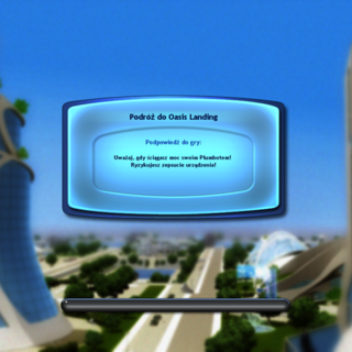 Ekran Ładowania podczas podróży do Oasis Landing