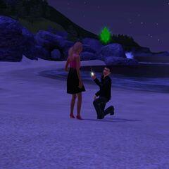 Zaręczyny na plaży w Sunset Valley w świetle księżyca