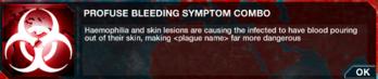 Profuse bleeding