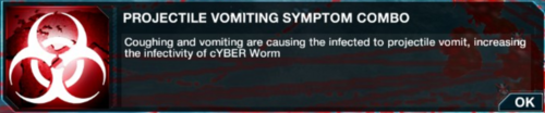 Projectile Vomiting symptom combo