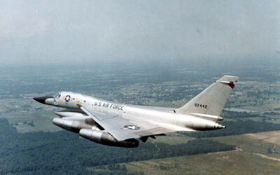 Convair B-58A Hustler in flight (SN 59-2442). Photo taken on June 29, 1967 061101-F-1234P-019