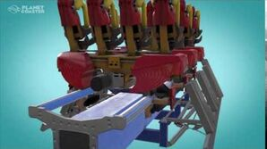 Floorless Rollercoaster Car With Animated Station (Werewolf) Animated Stations Post Alpha 2