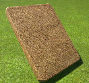 Thatch Roof 4m Slope - Planet Coaster