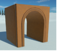 Gingerbread Rounded Arch Tunnel