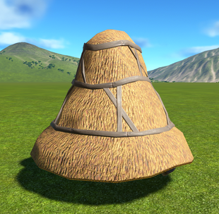 Thatch Roof Round Tower Cap - Planet Coaster