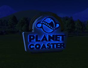 Planet Coaster Emblem Sign lit