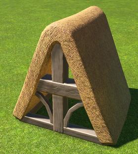 Thatch Roof Ridge - Planet Coaster