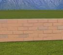 Classic Brick Wall 1m