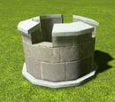 Castle Round Slim Tower Parapet