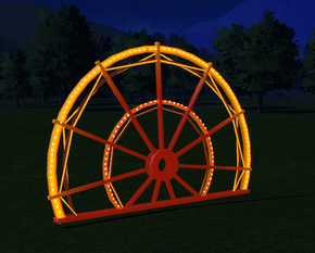 Cutout 10 - Spoked Wheel at night