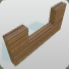 Wood Coaster Wall Half Height icon