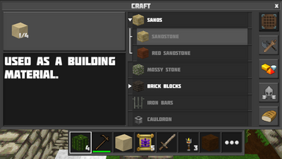 Crafting sandstone2